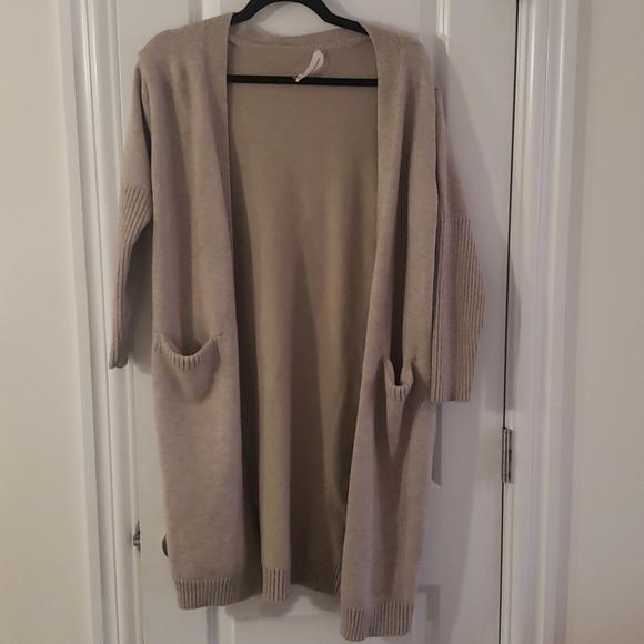 Goodnight macaroon brown knit cardigan